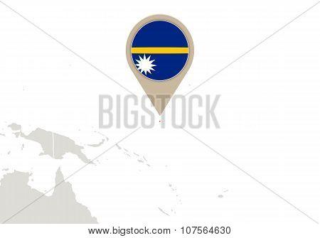 Nauru On World Map