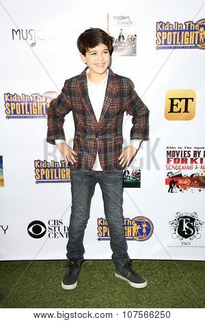 LOS ANGELES - NOV 7:  Joshua Rush at the Kids In The Spotlight's Movies By Kids, For Kids Film Awards at the Fox Studios on November 7, 2015 in Century City, CA