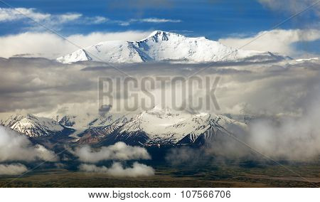 View Of Lenin Peak - Kyrgyz Pamir Mountains
