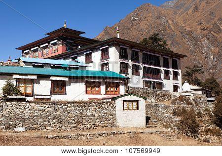 Tengboche Monastery With Stupa