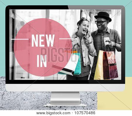 Couple Lifestyle Shopping Shopaholics Holidays Concept