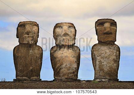 Ahu tongariki moai