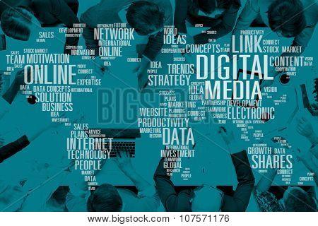 Digital Media Social Media Network Technology Electronic Concept