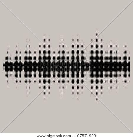 Vector sound waves set. Audio equalizer technology, pulse musical. Vector illustration of music patt