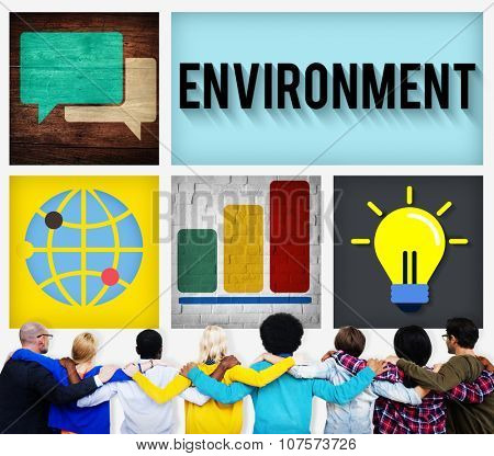 Global Green Business Environmental Conservation Concept