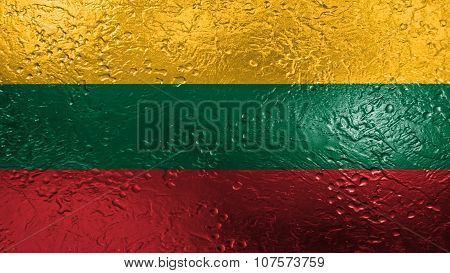 Flag of Lithuania, Lithuanian Flag painted on metal texture