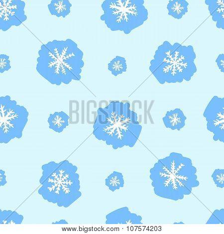 Seamless white snowflakes