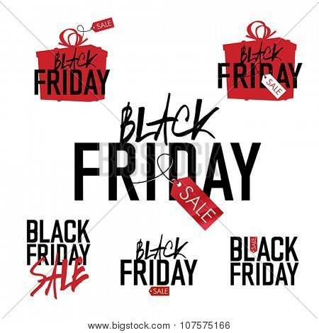 Black Friday sales Advertising Labels Collection.
