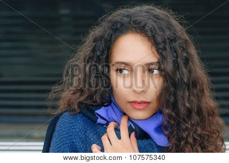 Portrait Of A Girl That Was Frozen In The Cold