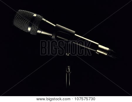 Modern Microphone On Stand