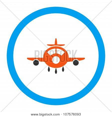 Aircraft Rounded Vector Icon