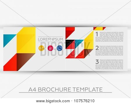 A4 Abstract Business Brochure Template - Vector Design