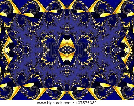 Fabulous Background. Satin Pattern With Spirals. Artwork For Creative Design