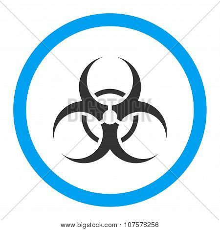 Biohazard Symbol Rounded Vector Icon