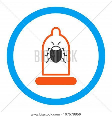 Bug Protection Rounded Vector Icon