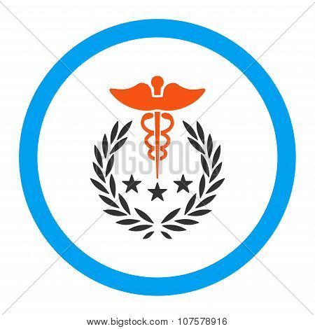Caduceus Logo Rounded Vector Icon