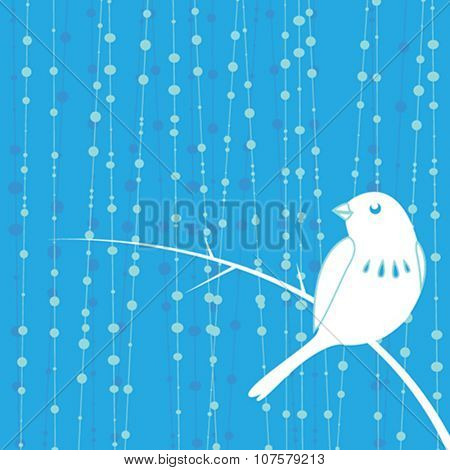 bird with blue background