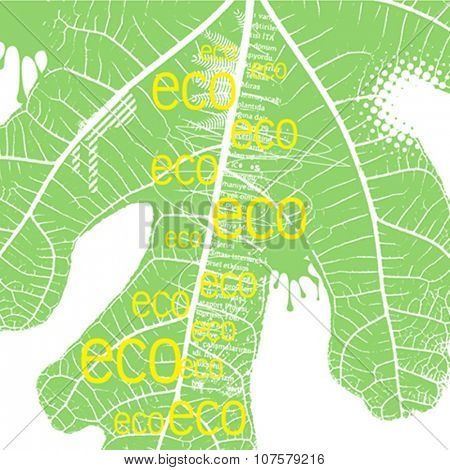 typography design of ecology concept, vector illustration