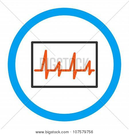 Cardiogram Rounded Vector Icon