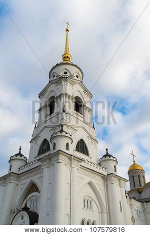 Uspensky Cathedral - UNESCO World Heritage Site. Golden Ring of Russia travel. Vladimir, Russia