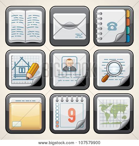 Design Paper Icons. Vector Set