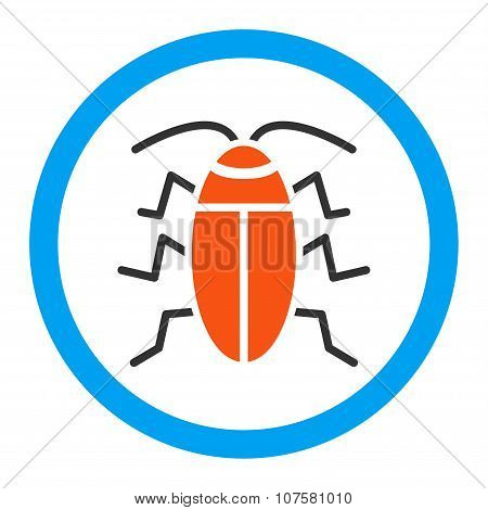 Cockroach Rounded Vector Icon