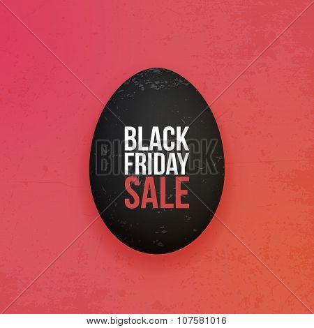 Black Friday Sale realistic Egg