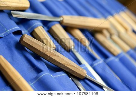 Tools In A Carpentry Workshop
