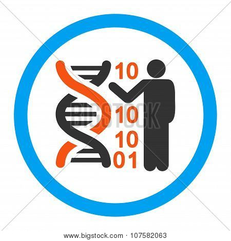 DNA Code Report Rounded Vector Icon