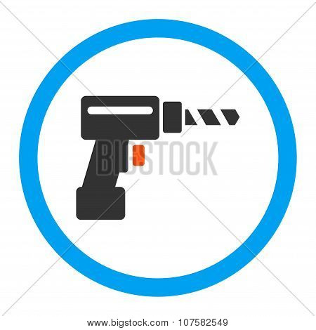 Drill Rounded Vector Icon