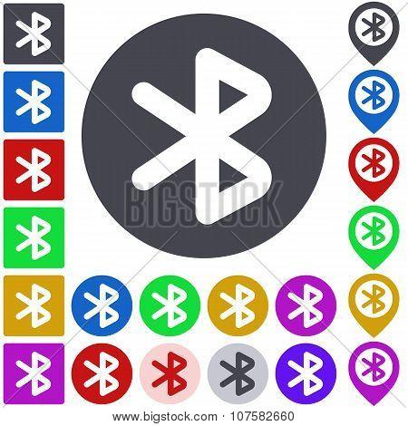 Color bluetooth icon set