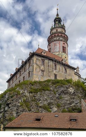 Cesky Krumlov Castle Tower, Czech Republic