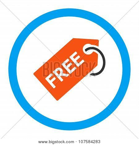 Free Tag Rounded Vector Icon