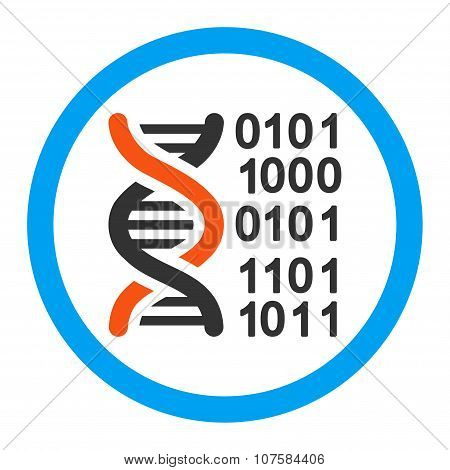 Genome Code Rounded Vector Icon
