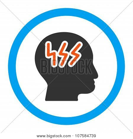 Headache Rounded Vector Icon