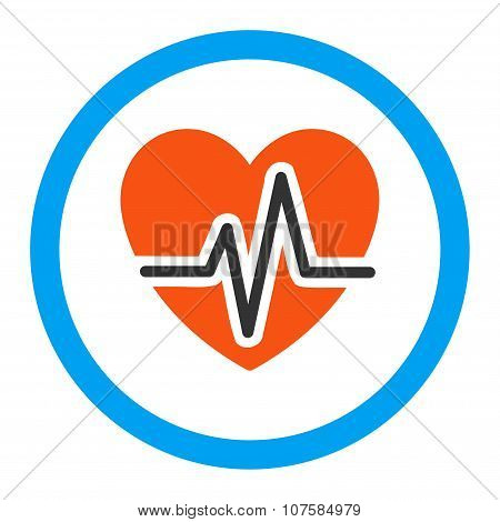 Heart Diagram Rounded Vector Icon