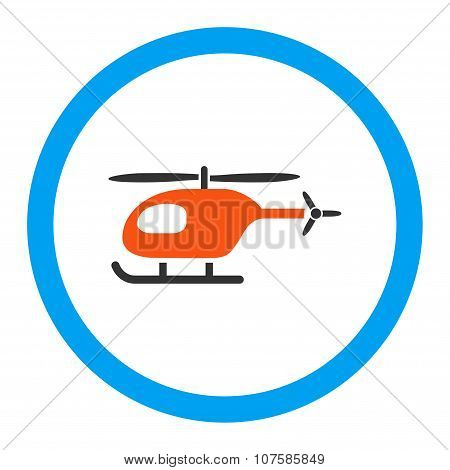 Helicopter Rounded Vector Icon