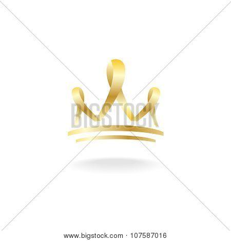 Golden Ribbon Crown Sign