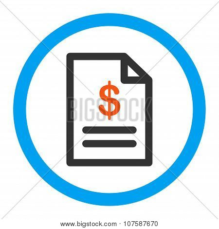 Invoice Rounded Vector Icon