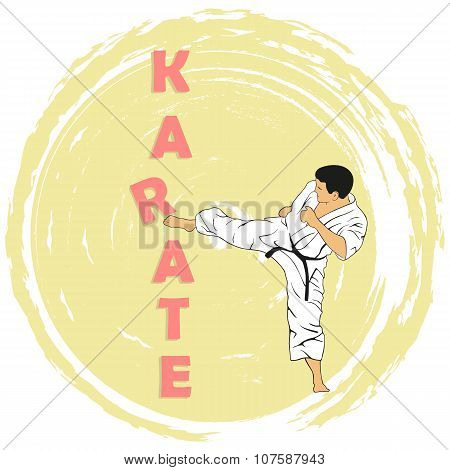 The Illustration, The Man Shows Karate