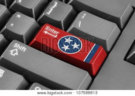 Enter Button With Tennessee State Flag