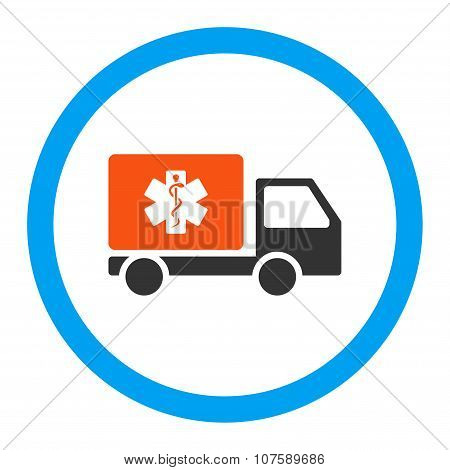 Medical Shipment Rounded Vector Icon