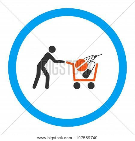 Medical Shopping Rounded Vector Icon
