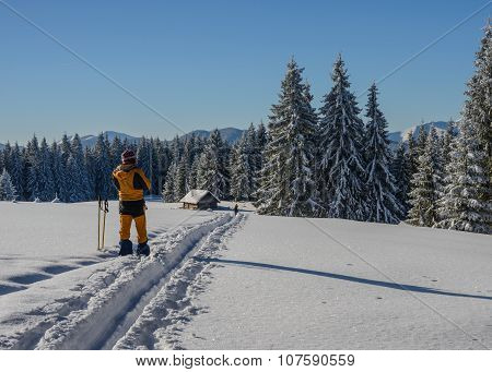 Winter Travel In Mountais