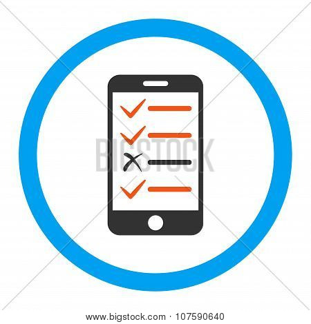 Mobile Test Rounded Vector Icon