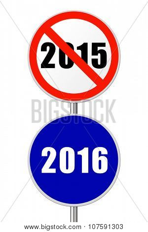 Round sign 2016 - New Year concept isolated on white background