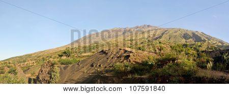 Mountain Of Serra Against The Hazy Sky