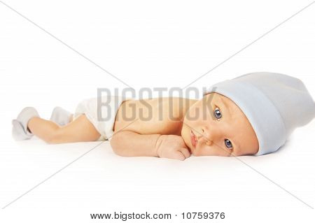 Beautiful baby isolated on white