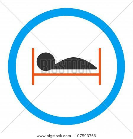 Patient Bed Rounded Vector Icon