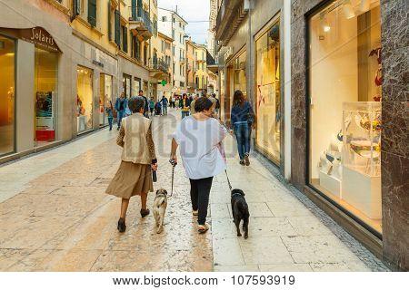 Verona. Street in the center.
